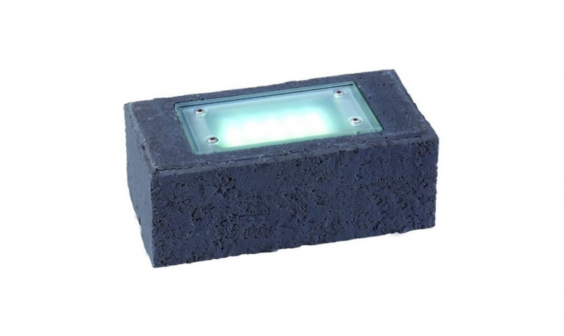 Garden Lights - Uplight Exillis Stone anthracite (6000K | 2 W | 50lm | 12V | 200x100x75mm)