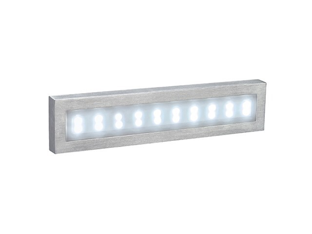 LED Wandlamp | AITES 20 LED OPBOUWLAMP, ALU-BRUSHED, WIT LED