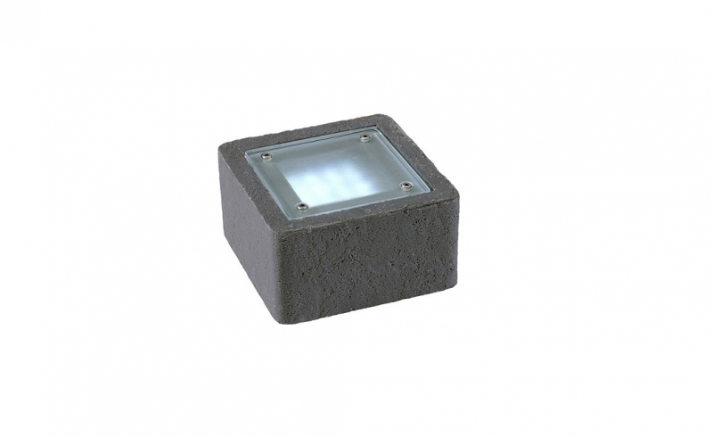 Garden Lights - Uplight Xerus Stone anthracite (6000K | 2 W | 50lm | 12V | 140x140x75mm)