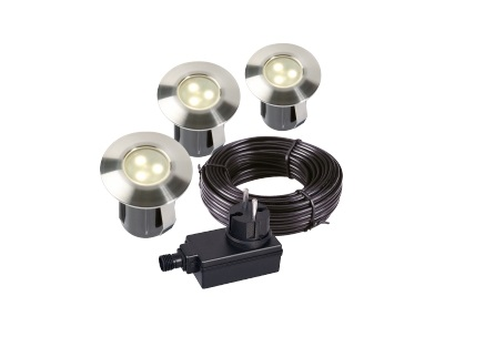 Garden Lights - Groundlight Birch (3000K | 0,5W | 10lm | 12V | 45x40mm) Kit 3 pieces