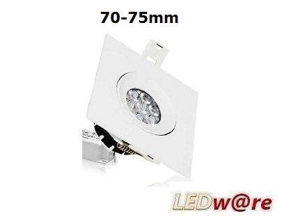 LED spots inbouwmaat 70-75mm