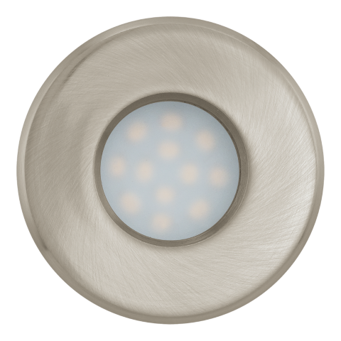 Eglo | LED inbouwspot | 1 LED Spot | 5W | Warm Wit | Nikkel Mat | 400Lm