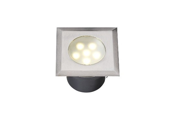 LED Grondspot | 12V | Vierkant | 1W | Warm Wit