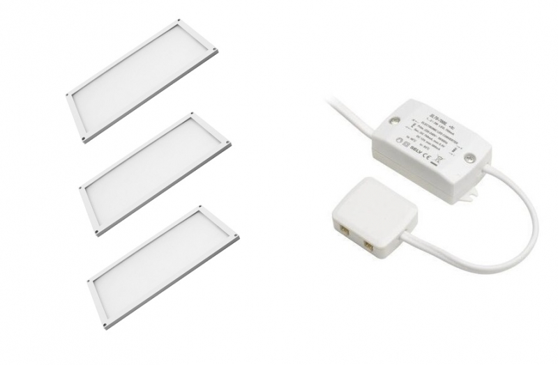 LED Module | Type THIN SET | 200 x 100 x 5mm | Warm Wit | 4 x 6W | 12V | 360 Lume