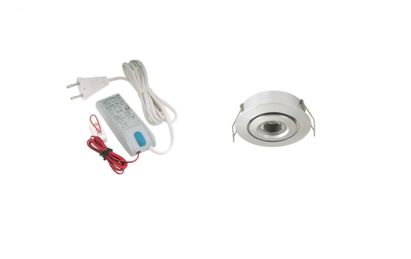 LED inbouwspot | 1 LED spots | 180Lm | Doe Het Zelf LED Kit | Warm Wit | 105A