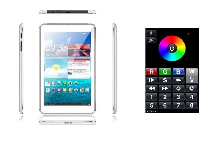 Tablet met RGBW Software 7 Inch - Quad Core