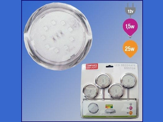 Trophies | LED Kastverlichting set | 4 Lampjes | 4 x 0,5W |