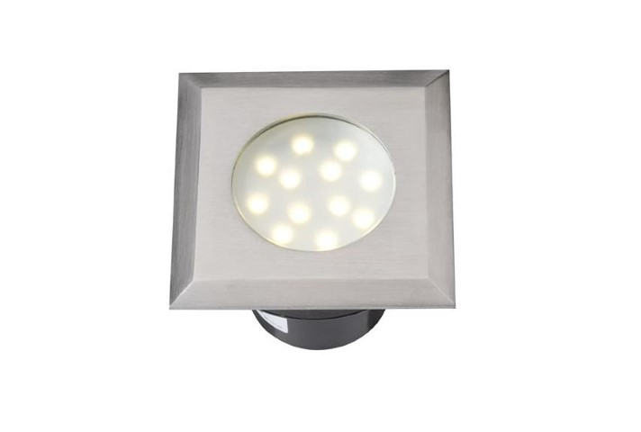 LED Grondspot | 12V | Vierkant | 2W | Warm Wit