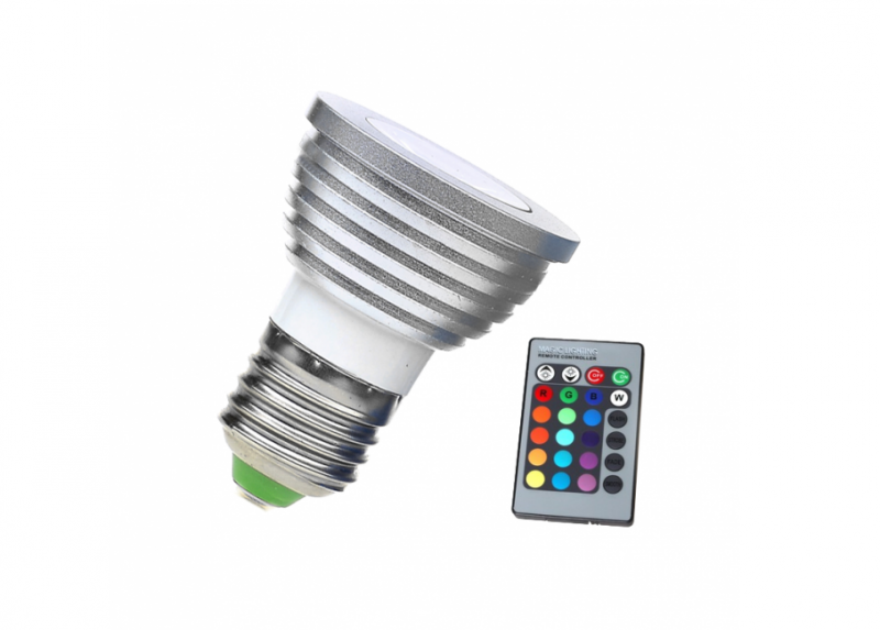 LED Lamp | 230V | 3W | RGB | E27