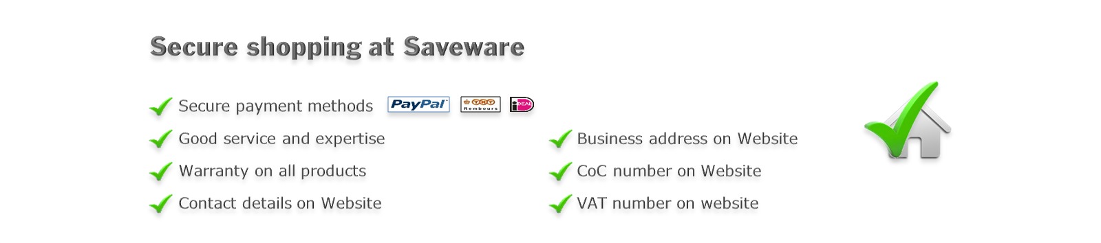 Secure shopping at Saveware