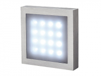 LED Wandlamp | AITES 16 LED OPBOUWLAMP, ALU-BRUSHED, WIT LED
