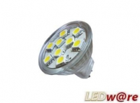 LED steeklampje | 12V | 12 LED | 2,9W | VV 20W | Warm Wit