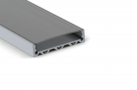 LED Profiel Slim Wide 11,1 x 44mm | Transparant, PC, UV Bestendig | 2M