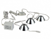 LED Kastverlichting set | 3 Lampjes | 3 x 1,5W | Rond