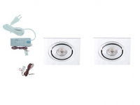 LED inbouwspot | 2 LED spots | 190Lm | Doe Het Zelf LED Kit | Warm Wit | LW201S