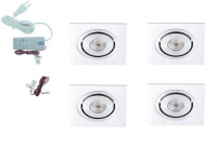 LED inbouwspot | 4 LED spots | 190Lm | Doe Het Zelf LED Kit | Warm Wit | Vierka