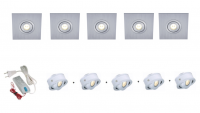 Lumoluce | Luzern + S80 Vierkant | LED inbouwspot | 5 LED spots | Doe Zelf LED Kit | Dagli