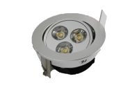 LED inbouwspot | 3 LED | Rond | 3 x 1W | 350mA | Warm Wit | LW302A350WW