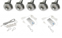 LED inbouwspot | 5 LED spots | 190Lm | Doe Het Zelf LED Kit | Warm Wit | 101B