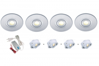 Lumoluce | Luzern + R80 | LED inbouwspot | 4 LED spots | Doe Zelf LED Kit | Warm Wit
